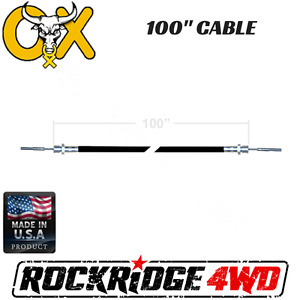 100 Ox Locker Cable Assembly W Jamb Nut For Jeep 4x4 Wrangler Offroad