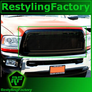 10 12 Dodge Ram 2500 3500 Hd Front Hood Black Billet Grille Replacement Shell