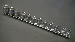 Proto J52216 12 Piece Metric Socket Set 12 Point 3 8 Dr 8 19mm Made In Usa