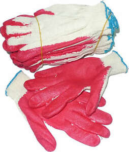 Red Rubber Coated Heavy Weight Work Gloves 60 Pairs