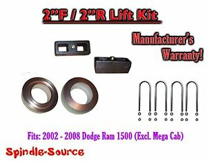 2002 2008 Dodge Ram 1500 2wd 2f 2r Inch Coil Spacer Block Lift Level Kit 2