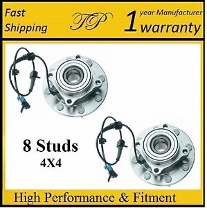 Front Wheel Hub Bearing Assembly For Gmc Sierra 2500 Hd 4wd 2001 2006 Pair