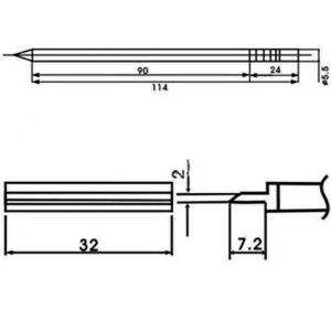 Aoyue Wq 1404 Soldering Iron Tip W Heating Element