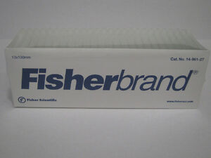 Fisherbrand Disposable Glass Test Tube Tubes 13 X 100mm 1000 Case New