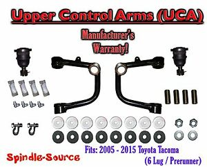 Upper Control Arms Uca Fits 2005 2018 Toyota Tacoma 6 Lug Prerunner 2wd 4wd