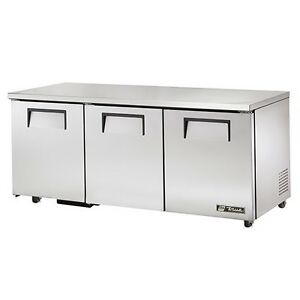 True Deep Worktop Solid 3 Door Refrigerator