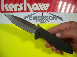 KERSHAW EMERSON CQC 4KXL X Large 3.9quot; blade INSTANT OPENING wave knife 6055 $37.50