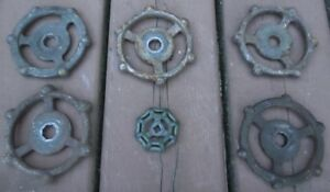 6 Cool Industrial Cast Iron Water Valve Handles 3 1 2 Dia Steampunk Art
