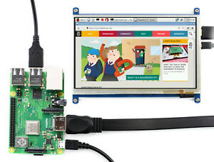 Waveshare 7 Inch Capacitive Touch Screen Lcd Hdmi Display For Raspberry Pi Etc