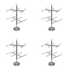Case Of 4 Retail Store Display Hanging Counter Top Spinner Rack 2 Tier Wire
