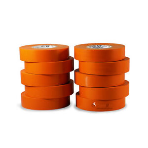 Tapessupply 10 Rolls Pack Orange Electrical Tape 3 4 X 66 Ft