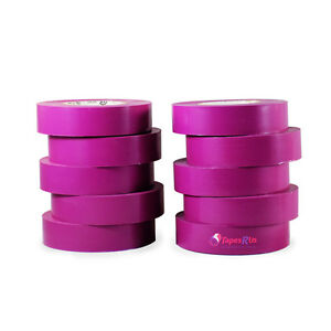 Tapessupply 10 Rolls Pack Purple Electrical Tape 3 4 X 66 Ft