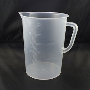 3000ml Plastic Measuring Cup Graduated Beaker With Scale No Handle