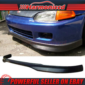 Fits 92 95 Honda Civic 4dr Sedan Front Bumper Lip Spoiler Bodykit