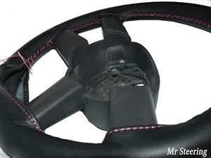 Fits Toyota Prius Ii 100 real Leather Steering Wheel Cover Pink Stitch 03 09 New