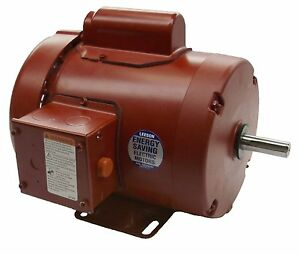 1 2hp 1725rpm 1ph 56 Tefc 115 208 230v Leeson Farm Duty Electric Motor 110086
