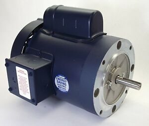 1 5hp 3450rpm 56c 1ph Tefc 115 208 230v Leeson Electric Motor 110419