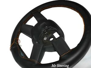 Italian Leather Steering Wheel Cover For Mercedes Actros 1995 2006 Orange Stitch
