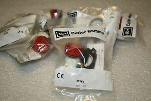 New Cutler hammer Model E22h2 Ser A1 Red Illuminated Lens Light