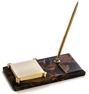Desk Accessories Marble Pen Stand Memo Holder