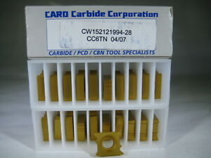 Lot 20 Threading Cw152121994 Grooving Carbide Lathe Turning Inserts Tool Bit