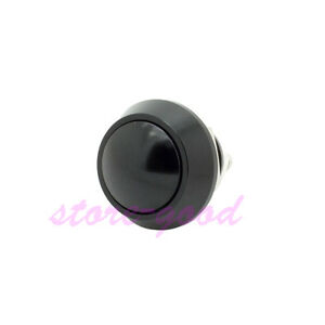 10pcs Black 12mm Momentary Metal Push Button Switch For Box Mods Screw Terminal