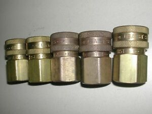 Lot Of 5 Parker Hydraulic Coupler 1 2 Bst 4 St Used H2