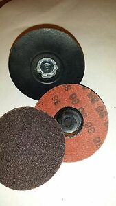 Merit 69957399786 Locking Sanding Disc 3in 36 Grit Tp Pk50