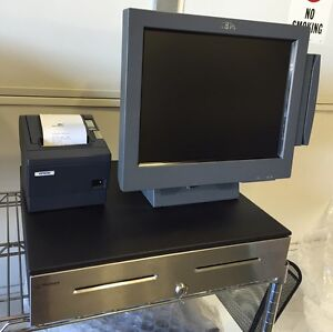 Restaurant Pos Full Set Up W touch Terminal 2 Printers And Cash Drawer