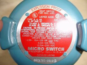 New Micro Switch Limit Switch 24cx200 Explosion Proof Snap 10 Amp 125 250 Volt