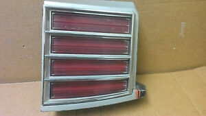 79 80 Pontiac Grand Prix Rh Tail Light And Extension Oem