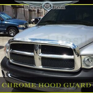 For 2002 2005 Dodge Ram 1500 2003 05 2500 Chrome Hood Guard Bug Shield Deflector