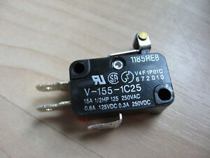 Omron Micro Limit Switch V 155 1c25 With 1 2 Roller Lever 15a 125 250vac e66e