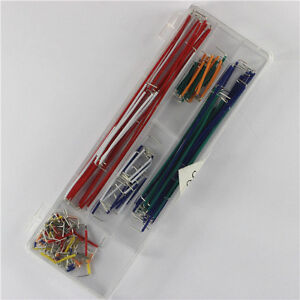 10pcs 140pcs Solderless Breadboard Jumper Cable Wire Kit Box Diy For Arduino Z3