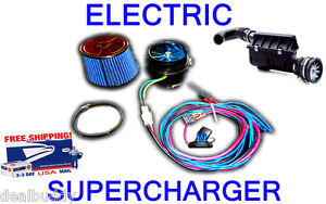 Chevy Electric Air Intake Ss Supercharger Turbo Performance Fan Free Usa Ship