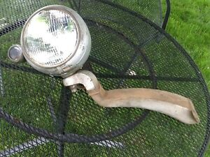 Antique Vintage Steampunk 1940s Rat Rod Hot Rod Headlight Assembly 6 8 Volts