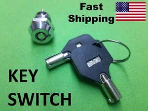 Key Switch On Off Ac Dc Volts Small Hidden Switch With 2 Keys