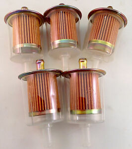5 Fuel Filters Industrial High Performance Universal Inline Gas Fuel Line 3 8