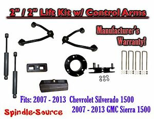 2007 13 Chevy Silverado Gmc Sierra 1500 2 2 Control Arm Lift Kit Shocks