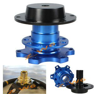 Universal Blue Quick Release Kit For 6 hole Racing Steering Wheel Hub Adapter