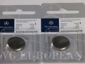 Mercedes Benz Genuine Remote Keyless Key Battery 2 Pack Oe Original New
