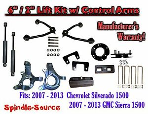 2014 Chevy Silverado 1500 Gmc Sierra 6 2 Spindle Lift Control Arms Shocks