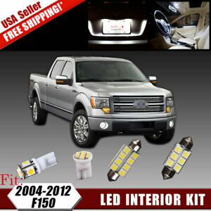 16x White Led Dome License Lights Interior Package Kit For 2004 2012 Ford F150