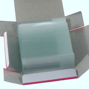 A Lot Of 50 Microscope Micro Slides Glass 25 4mmx76 2mm Frosted