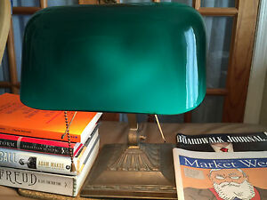 Antique Almost Emeralite Banker S Lamp Ny Model 8734 Emerald Glass