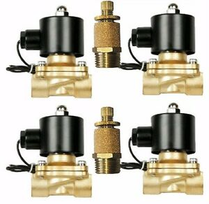 Four Air Suspension Valves 1 2 Npt 12v Brass W Slow Down Air Ride System Parts