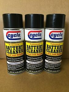 Free Priority Ship 3 Professional Cyclo Battery Cleaner And Leak Detector Spray