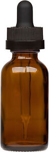 100 Pack Amber Glass Bottle W Black Child Resistant Glass Dropper 1 Oz