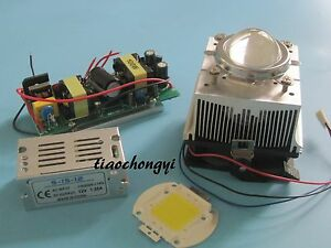 100w Led Chip 100w Led Driver cooling Heatsink Lens With Reflector Collimator