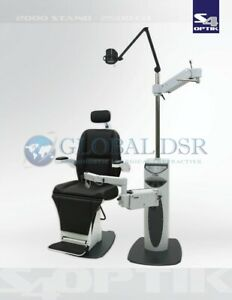 S4optik New 2500 Examination Chair W 2000 Instrument Stand Complete Exam Lane
